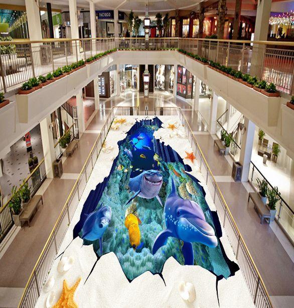 3D Sly Meer Hai 244 Fototapeten Wandbild Fototapete BildTapete Familie DE