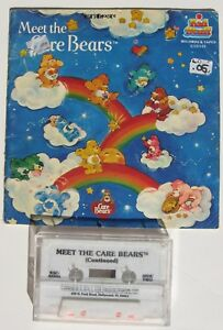 Vintage Meet the Care Bears Softcover Book 1983 with cassette