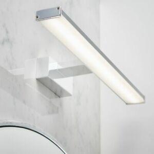 LED Specchio Bagno Sopra Luce parete di design effetto cromato IP44 8W W: 40cm