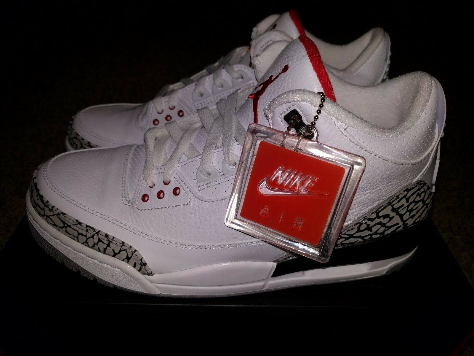 Nike Air Jordan 3 88 White Cement Retro III Black 2013 JTH Tinker WC3 Size 9.5