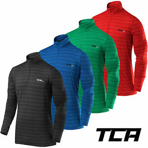 Men-039-s-TCA-Infinity-Half-Zip-Long-Sleeve-Running-Jogging-Winter-Run-Gym-Sport-Top