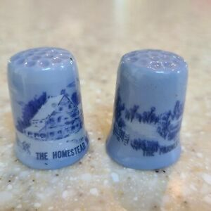 Thimble Set Currier & Ives Homestead and Farmers Home Winter