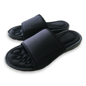 Mens-Memory-Foam-Slippers-Padded-Open-Toe-Slippers-Flip-Flop-UK-Size-6-7-8