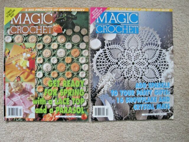 Lot Of 2 Magic Crochet Magazines #142 152 Feb.2003 Oct