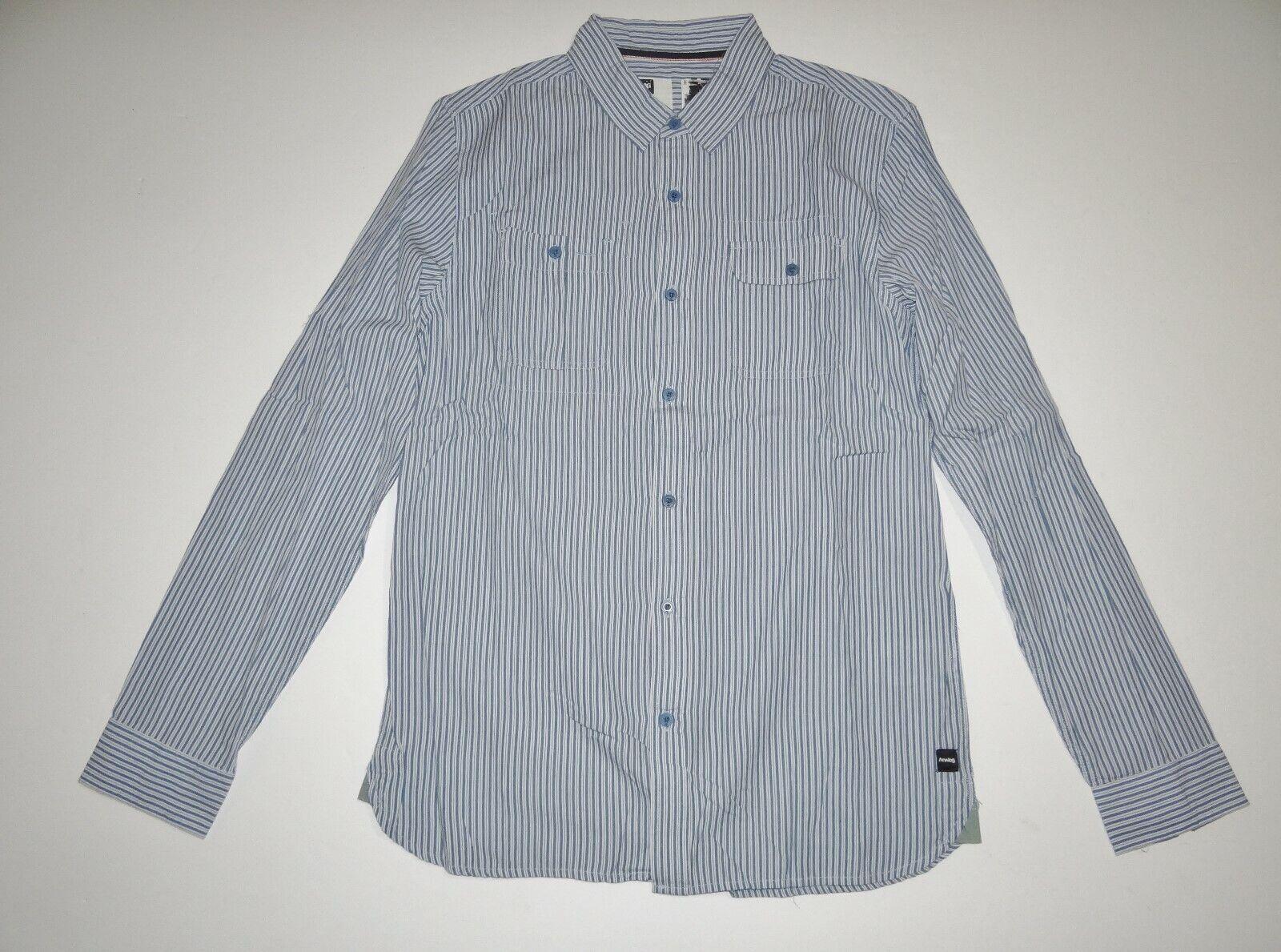 9abedca65e9 New Mens Long Casual Button Up Classic Fit Cotton Shirt Medium ...