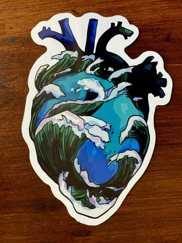 Add Any 4 Heart Surfing Sticker Ocean Realistic Stickers to Cart $1.75 Each!!