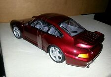 Diecast 1:18 UT model car, Porsche 911 turbo in burgandy or black
