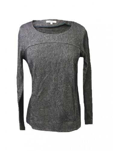 S,L,XXL Sweater Pulli Longshirt Langarm 100/%Baumwolle Sandwich Pullover Grau Gr