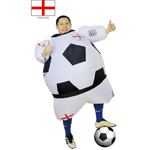 Image is loading Halloween-Football-Player-Inflatable-Costumes-Adults-Soccer -Fancy-  sc 1 st  eBay & Halloween Football Player Inflatable Costumes Adults Soccer Fancy ...