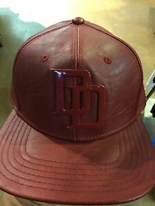 4caa2925066 Marvel Comics DAREDEVIL Suit Up Leather SnapBack Hat. NWT. One Size ...