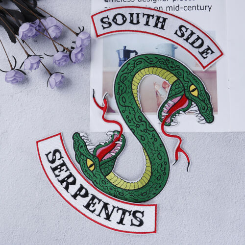 Green snake Southside Serpents patch iron on shirt bag jacket embroided badge—QY