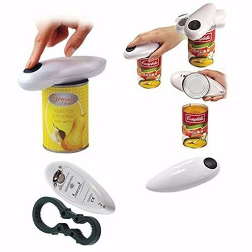 Automatic Electric Can Tin Bottle Opener Touch Free Operater No Hands Jars Tool