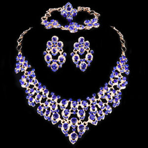 African-Beads-Jewelry-Sets-Women-Bridal-Crystal-Statement-Necklace-Earring-Ring
