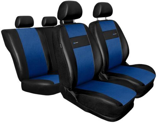 Cubiertas De Asiento De Coche Apto Peugeot 307 Negro//Azul Set Completo De Cuero