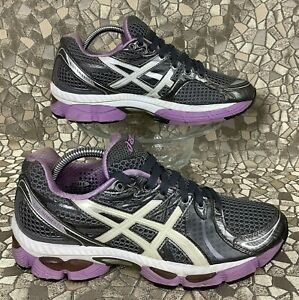 rare ASICS Gel NIMBUS 13 Rock White Violet Running Walking Shoe 40 ...