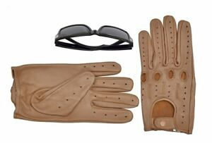 Men-039-s-Driving-Saddle-Brown-Leather-Gloves-Size-Large