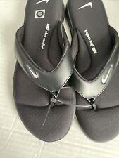 Новый с ценниками Nike ультра комфорт стринги размер 10 женские сандалии шлепанцы AR4498 003 черный
