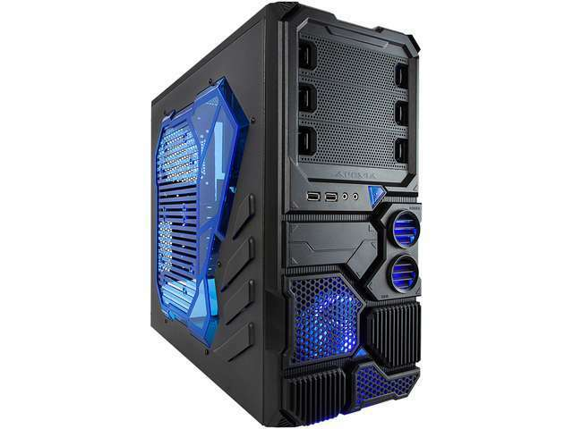APEVIA X-Sniper X-SNIPER2-BL Black Steel ATX Mid Tower Computer Case w/ Side Win