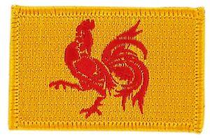 Parche bandera PATCH VALONIA 7x4,5cm bordado termoadhesivo nuevo