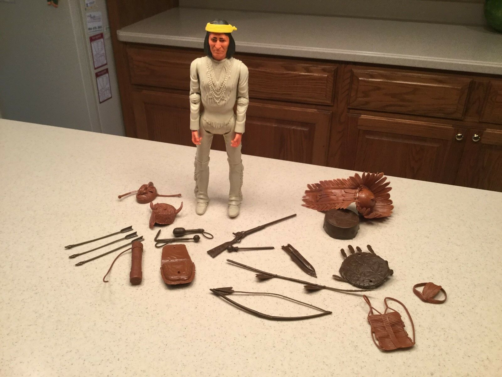 Vintage Louis Marx Geronimo Indian W  Accessories Used Intact Nice