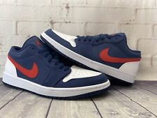 Nike Air Jordan 1 Low Se Navy Blue Red White Usa Shoes Cz8454 400 Men S Size 11 For Sale Online Ebay