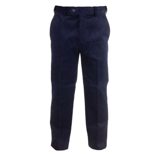 Mens Expanding Waist Needle Cord Trousers 32-46 Wine Winter Gold Ink Blue