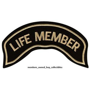 The eagle & life member hog patches harley owners group hd mc   ebay.
