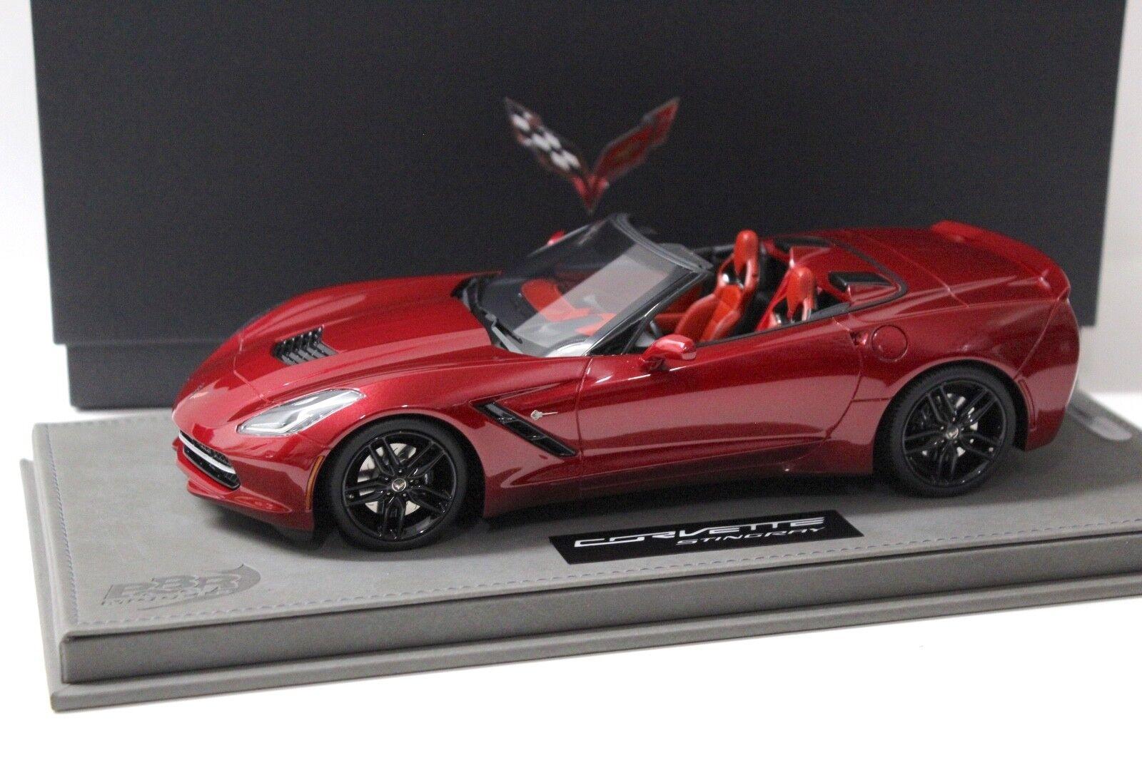 la mejor oferta de tienda online 1 18 BBR Chevrolet Corvette Stingris Converdeible Converdeible Converdeible cristalrojo New en Premium-modelCoches  descuento de ventas