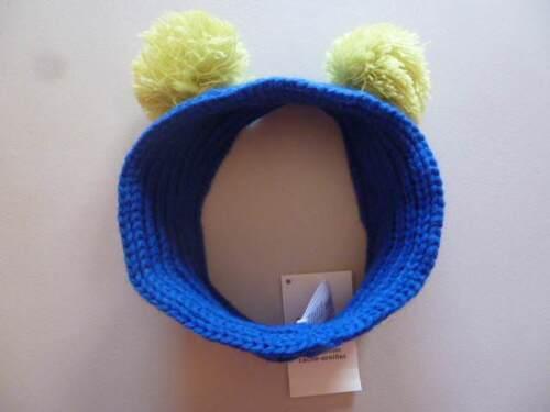 GYMBOREE Color Happy Blue OR Orange Ear Warmer Headband w// Pom Poms One Size NEW