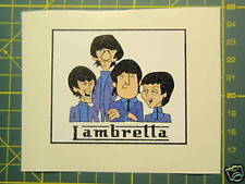 LAMBRETTA Vespa Scooter RETRO BEATLES CARTOON Sticker GP,TV,LI,SX,GT. 200