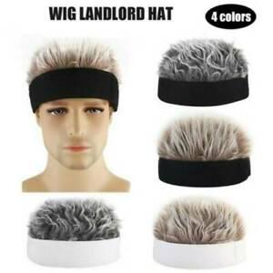 Men-Women-Baseball-Outdoor-Sports-Golf-Beanie-Wig-Hat-Funny-Fake-Flair-Hair-Caps