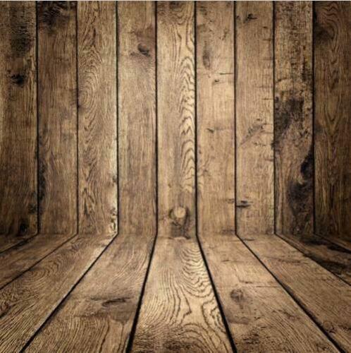 3x5FT// 5x7FT Retro Wood Plank Wall Photography Backdrop Studio Photo Background