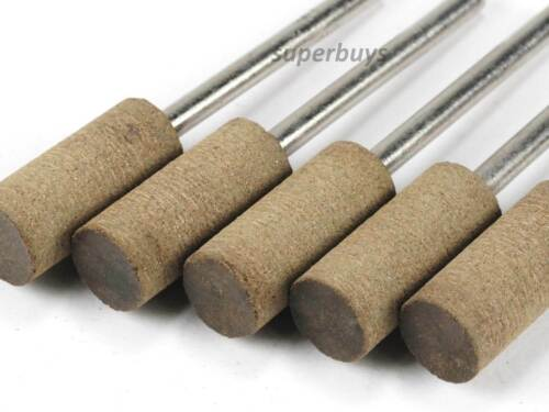 5pcs 8mm Cylinder Head Leather Polishing Buffing Dremel Rotary Drill Bit Tool