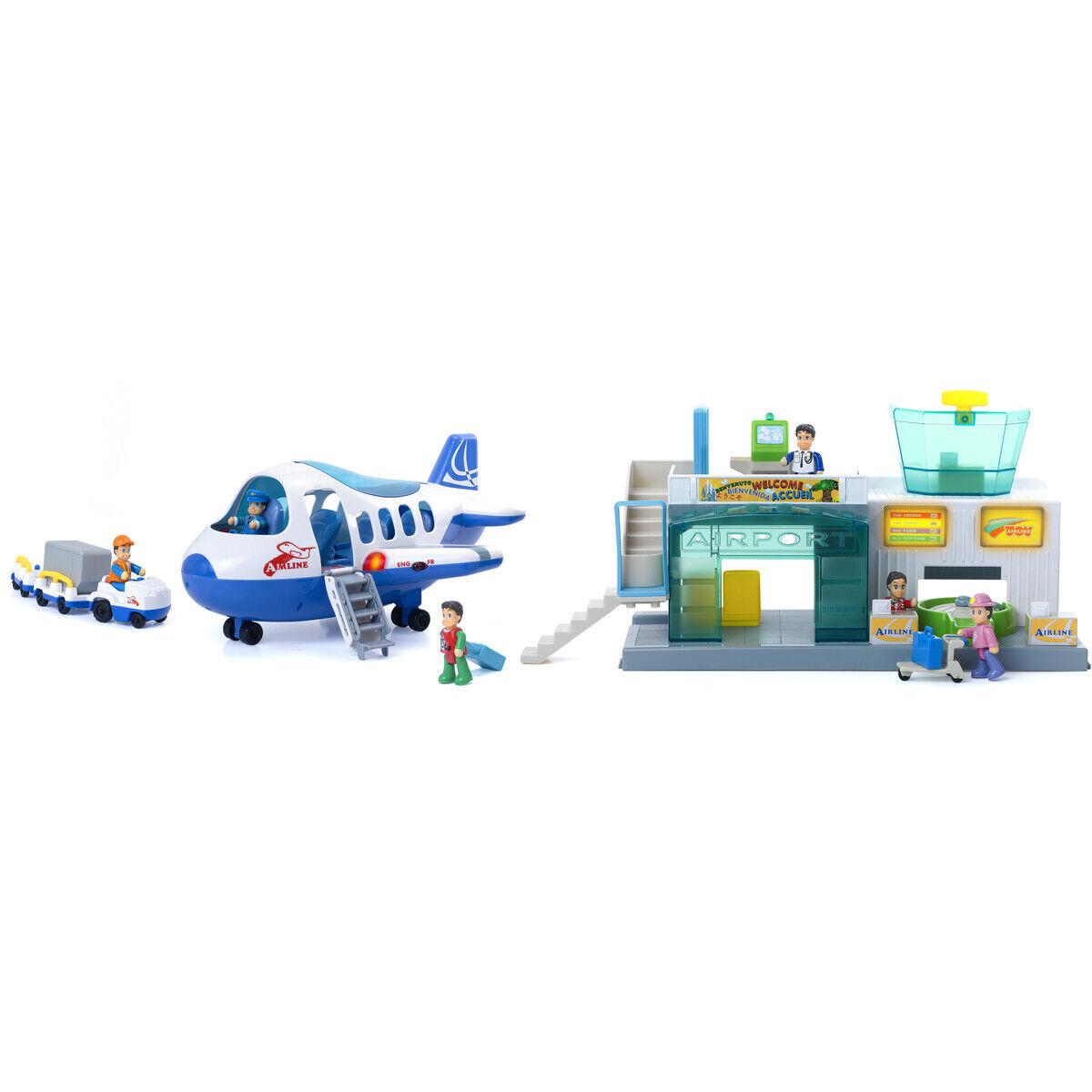 NEW Little Learner Airport Playset Pretend Pilot Terminal Happkid Birthday Gift