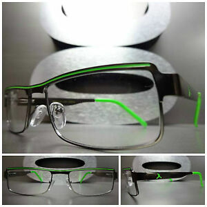 Lime Green Eyeglass Frames : Men Women CONTEMPORARY MODERN Clear Lens EYE GLASSES ...
