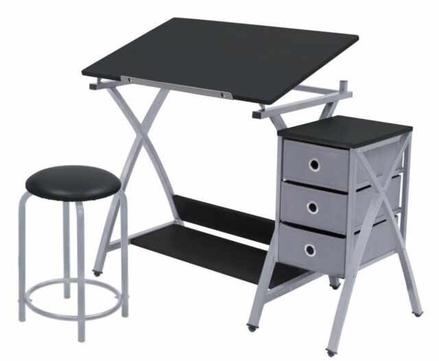 Terrific Drawing Drafting Table Desk Chair Art Station Office Studio Student Craft Stool Onthecornerstone Fun Painted Chair Ideas Images Onthecornerstoneorg