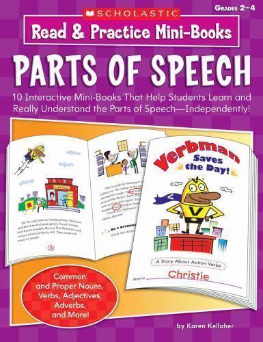 Read & Practice Mini-Books: Parts of Speech: 10 Interactive Mini-Books That Hel