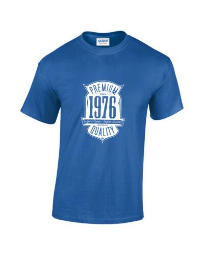 né en 1976 44th Anniversaire//Cadeau Homme T-Shirt Imprimé Âgé à la perfection