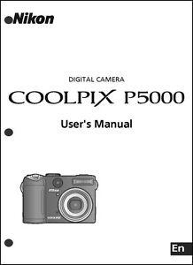 nikon coolpix p5000 digital camera user guide instruction manual ebay rh ebay com Sony Digital Camera Nikon Coolpix L20