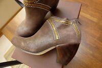 Sundance Catalog Calleen Cordero Handcrafted Sombra Ankle Boots 8 $568