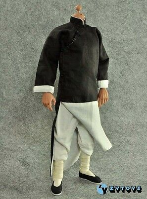█ ZY Toys Ip Man 1/6 Black Robe Costume Bruce Lee Enterbay Hot Kung Fu █