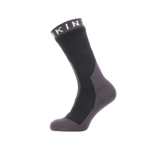 1 Paar Sealskinz Socken Extrem Cold Weather Mid 39-42 schwarz//grau Größe: M