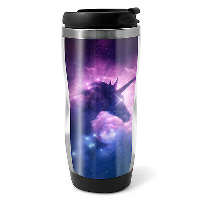 Unicorn Nebula Travel Mug Flask 330ml Coffee Tea Kids Car Gift #14344