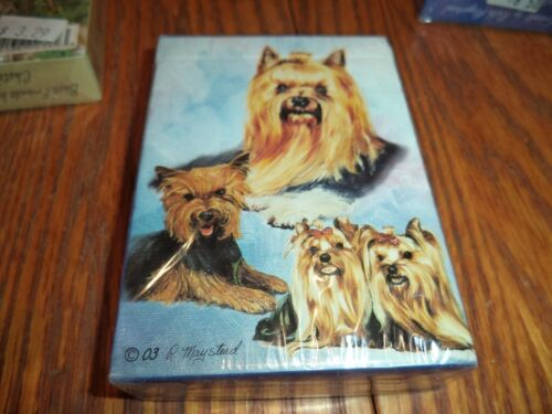 BY RUTH MAYSTEAD YORKIE PLAYING CARDS YORKSHIRE TERRIER