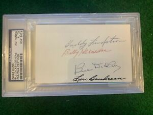 PSA-Multi-Autograph-3x5-Index-Bill-Dickey-Lou-Boudreau-Billy-Herman-Lindstrom