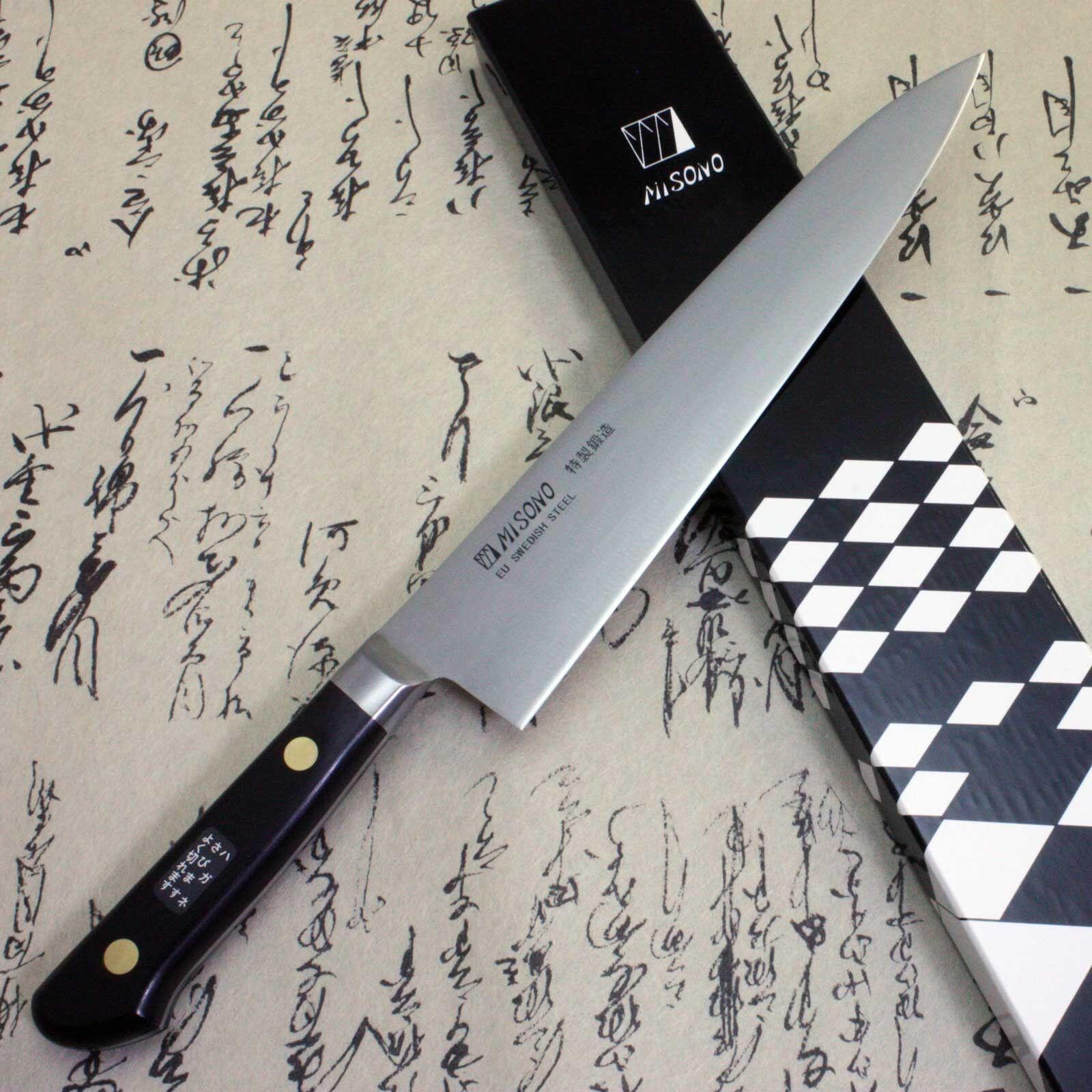 Misono chef japonais couteau de cuisine La Suède en acier au carbone Gyuto 210 mm F S