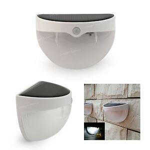 au en solar betrieben licht pir bewegungssensor garten zaun t r wand beleuchtung ebay. Black Bedroom Furniture Sets. Home Design Ideas