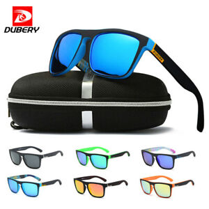 1d9d6ee0e9 Image is loading DUBERY-Men-Sport-Polarized-Sunglasses-Outdoor-Driving- Square-