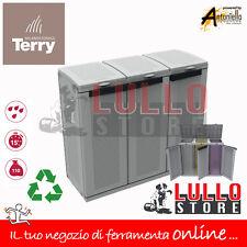 Armadio In Resina Per Raccolta Differenziata.Terry Ecocab 3 Armadio In Plastica Per Raccolta Differenziata 102 X 39 X 88 7 Cm 1002765