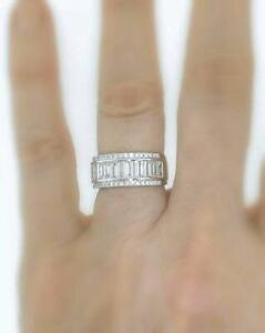 VS1-Natural-2-50ct-Diamond-Anniversary-Ring-Baguette-White-18k-Gold-8-5mm-Band